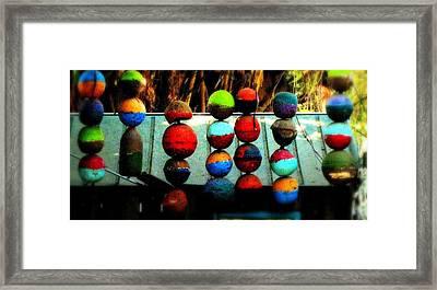 Balls From Heaven Framed Print by Claudette Bujold-Poirier