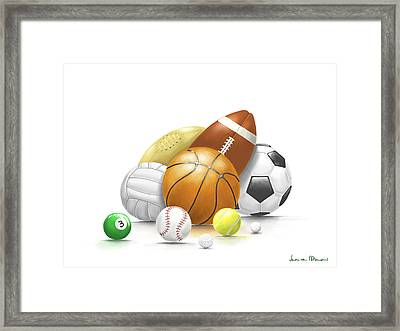 Balls Framed Print by Veronica Minozzi