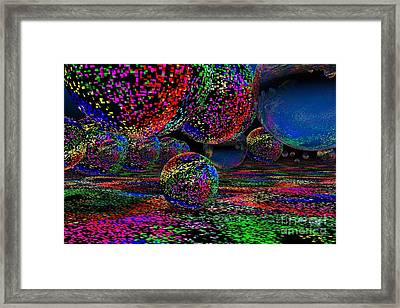 Framed Print featuring the digital art Balls1 by Mark Blauhoefer