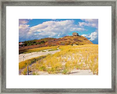 Framed Print featuring the photograph Ballston Beach Dunes Photo Art by Constantine Gregory