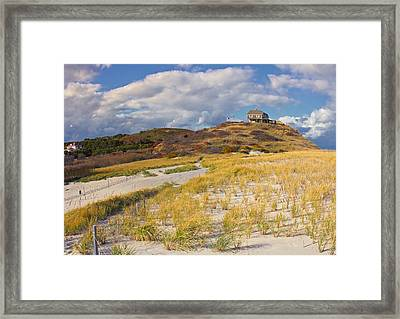 Framed Print featuring the photograph Ballston Beach Dunes by Constantine Gregory
