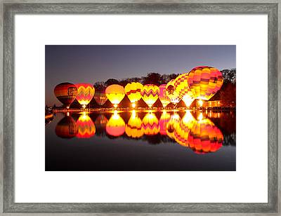 Framed Print featuring the photograph Balluminaria by Cathy Donohoue