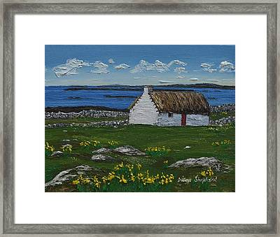 Ballyconneelly Cottage Connemara Ireland Framed Print