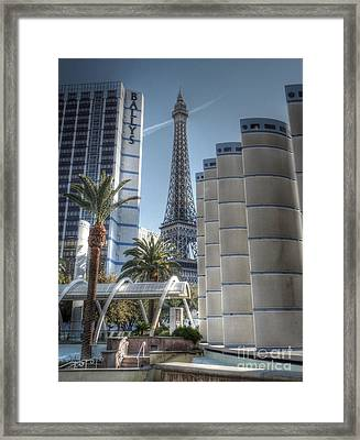 Ballys On The Strip Framed Print by David Bearden