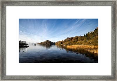 Framed Print featuring the photograph Balmaha by Stephen Taylor