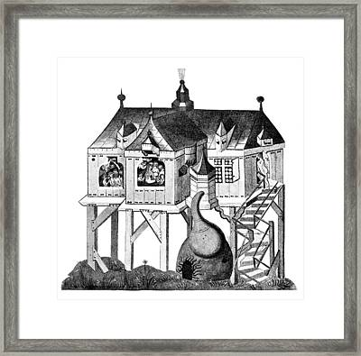 Balneology, German Bath House, 1405 Framed Print