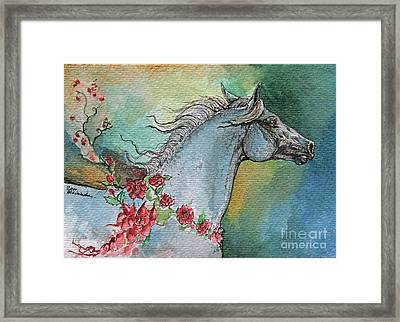 Balon Polish Arabian Horse Portrait 1 Framed Print by Angel  Tarantella
