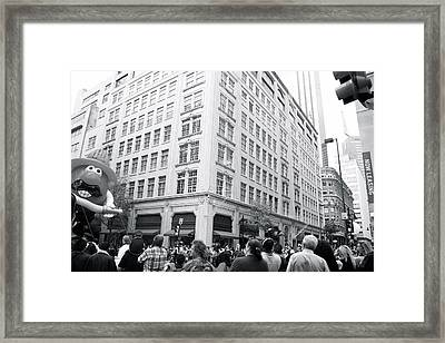 Baloon Photo Bomb Framed Print by Snow  White
