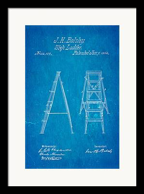 Step Ladder Framed Prints