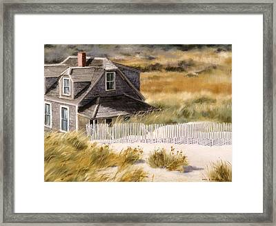 Balston Beach House Framed Print