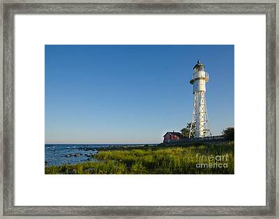 Baltic Sea Lighthouse Framed Print by Kennerth and Birgitta Kullman