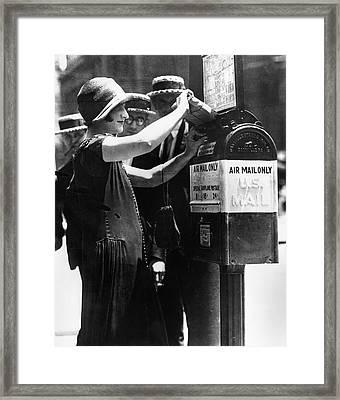 Baltimore Air Mail Box Framed Print