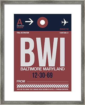 Baltimore Airport Poster 2 Framed Print