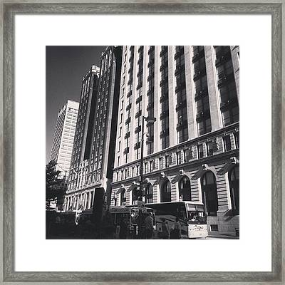 Framed Print featuring the photograph Baltimore And Charles by Toni Martsoukos