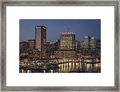 Baltimore At Dusk Framed Print by Rick Berk