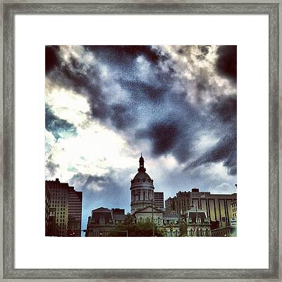 Framed Print featuring the photograph Baltimore City Hall by Toni Martsoukos