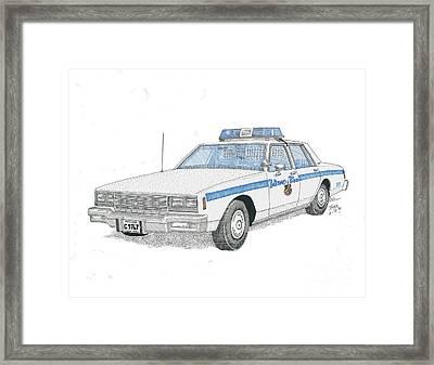 Baltimore City Police Cruiser Framed Print by Calvert Koerber