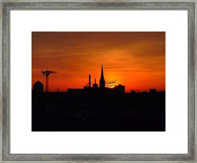Baltimore Dawn Framed Print