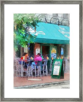 Baltimore - Happy Hour In Fells Point Framed Print by Susan Savad