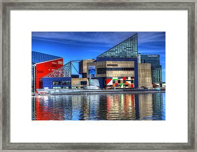 Baltimore Harbor Framed Print by David Simons