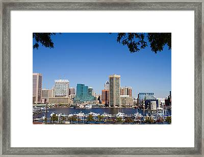 Baltimore Harbor Skyline Framed Print