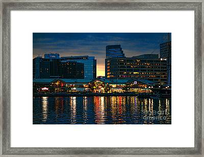 Baltimore Harborplace Light Street Pavilion Framed Print by Olivier Le Queinec