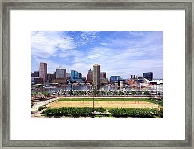 Baltimore Inner Harbor Beach Framed Print