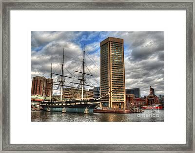 Baltimore Inner Harbor Framed Print by Deborah Smolinske