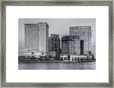 Baltimore Inner Harbor East Skyline At Twilight II Framed Print by Clarence Holmes