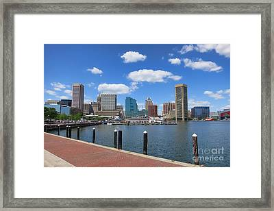 Baltimore Inner Harbor Framed Print by Olivier Le Queinec