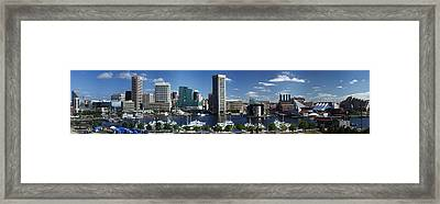 Baltimore Inner Harbor Panorama Framed Print
