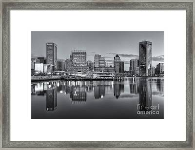 Baltimore Inner Harbor Skyline At Dawn IIi Framed Print by Clarence Holmes