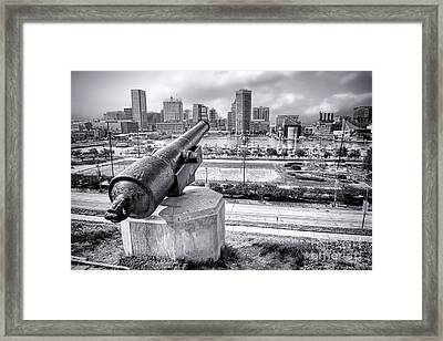 Baltimore Inner Harbor Skyline Framed Print by Olivier Le Queinec