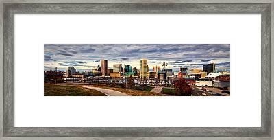 Baltimore Inner Harbor Skyline Panorama Framed Print