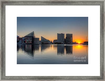 Baltimore Inner Harbor Sunrise I Framed Print by Clarence Holmes