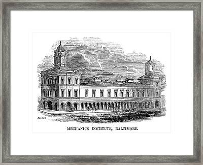 Baltimore Institute, 1853 Framed Print