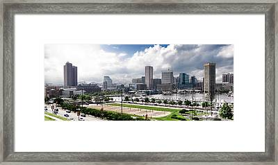 Baltimore Maryland Framed Print by Olivier Le Queinec