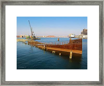 Framed Print featuring the photograph Baltimore Museum Of Industry by Brian Wallace