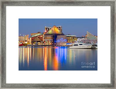 Baltimore National Aquarium At Twilight I Framed Print by Clarence Holmes