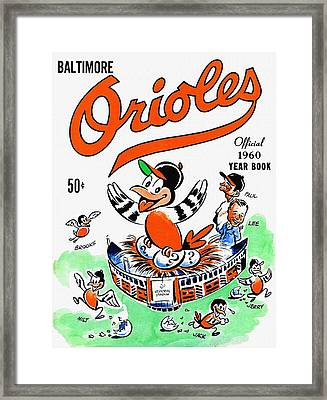 Baltimore Orioles 1960 Yearbook Framed Print