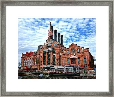 Baltimore Power Plant Framed Print by Olivier Le Queinec