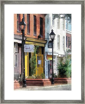 Baltimore - Quaint Fells Point Street Framed Print by Susan Savad