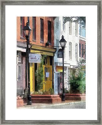 Baltimore - Quaint Fells Point Street Framed Print