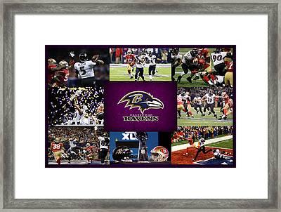 Baltimore Ravens 2 Framed Print by Joe Hamilton