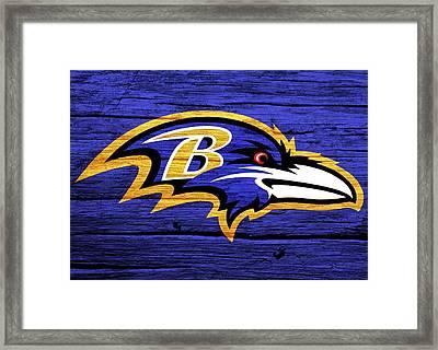 Baltimore Ravens Barn Door Framed Print by Dan Sproul