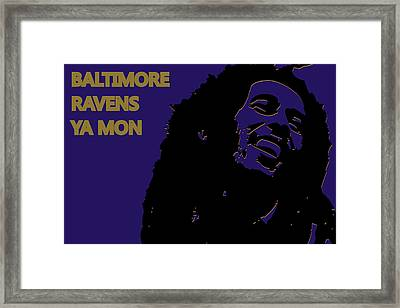 Baltimore Ravens Ya Mon Framed Print by Joe Hamilton