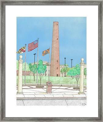 Baltimore Shot Tower Framed Print by Calvert Koerber