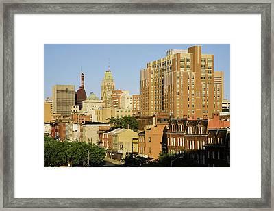 Baltimore Skyline, Maryland Framed Print