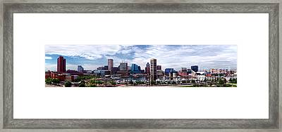 Baltimore Skyline Framed Print by Olivier Le Queinec