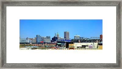 Baltimore Stadiums Framed Print by Olivier Le Queinec